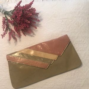 Nina Retro Leather Clutch